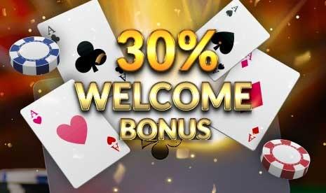 30% Welcome Bonus
