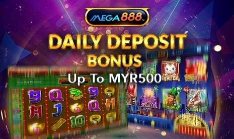 Mega888 Daily Deposit Bonus
