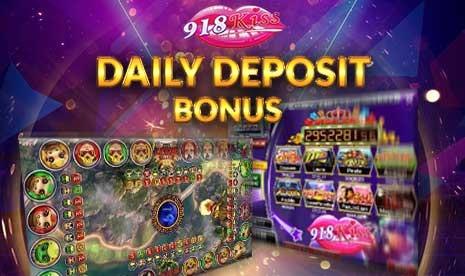 918Kiss Daily Deposit Bonus